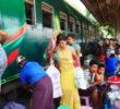 ミャンマーで電車に乗ってみるその2!ホームと線路が市場になってるダニンゴン駅